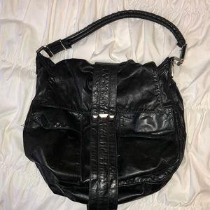 Tylie Malibu oversized black leather tote